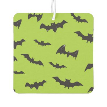 Halloween Themed Halloween Bats on Lime Green Car Air Freshener