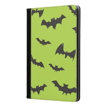Halloween Themed Halloween Bats on Lime Green iPad Air Case
