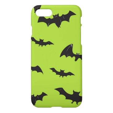 Halloween Themed Halloween Bats on Lime Green iPhone 8/7 Case