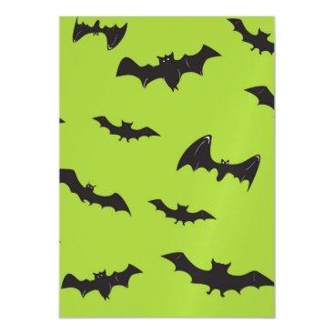 Halloween Themed Halloween Bats on Lime Green Magnetic Card