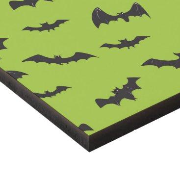Halloween Themed Halloween Bats on Lime Green Panel Wall Art