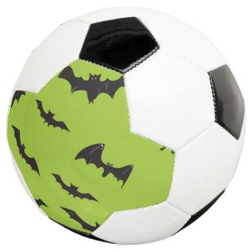 Halloween Themed Halloween Bats on Lime Green Soccer Ball