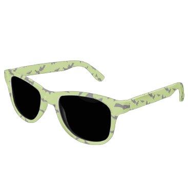 Halloween Themed Halloween Bats on Lime Green Sunglasses