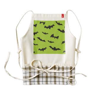 Halloween Bats on Lime Green Zazzle HEART Apron