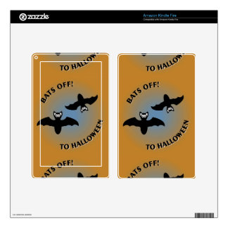 Halloween Bats Orange Blue Decals For Kindle Fire