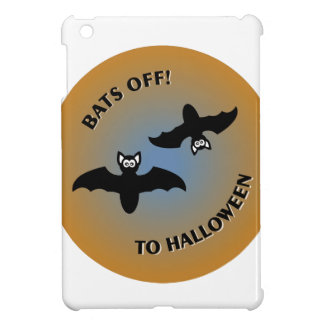Halloween Bats Orange Blue iPad Mini Covers