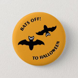 Halloween Bats Orange Button