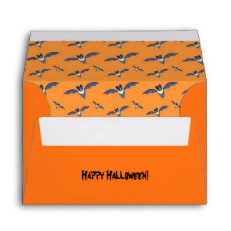 Halloween Bats orange pattern Envelopes