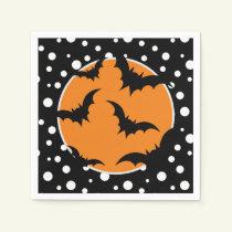 Halloween Bats Paper Napkins