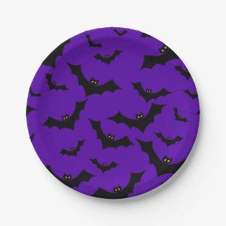 Halloween Bats Paper Plate