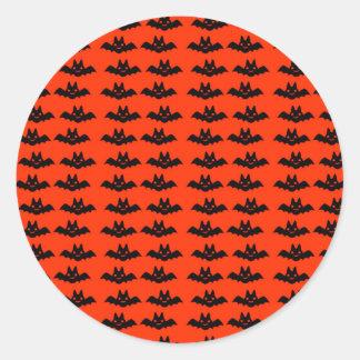 Halloween Bats Party Favor Sticker