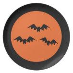 Halloween Bats Plate