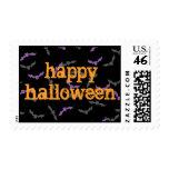 Halloween Bats Postage Stamp