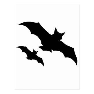 halloween bats postcard