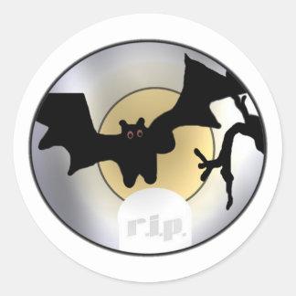 Halloween Bats RIP Classic Round Sticker