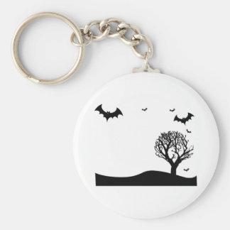 Halloween Bats Scene Keychains