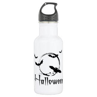 Halloween bats water bottle