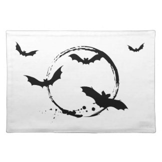 Halloween bats with moon placemats