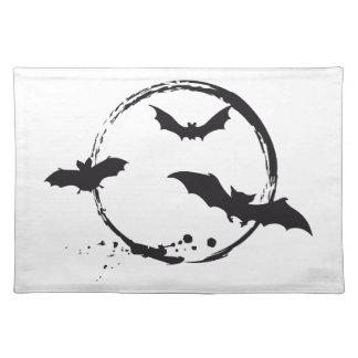 Halloween bats with moon place mat