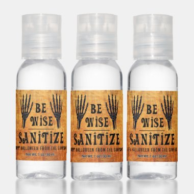 Halloween BE WISE SANITIZE Fun Party Favor Hand Sanitizer
