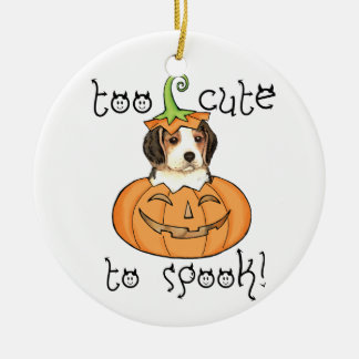 Halloween Beagle Ceramic Ornament