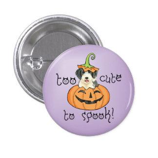 Halloween Beardie Pinback Button