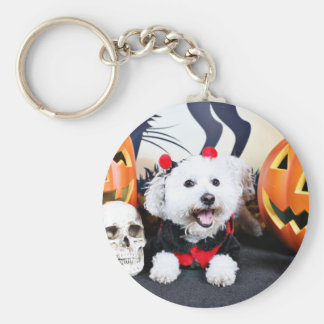 Halloween - Bichon Frise - Andi Basic Round Button Keychain