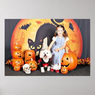 Halloween - Bichon Frise - Andi Poster