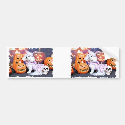 Halloween - Bichon Frise - Mia Bumper Stickers