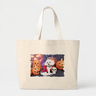 Halloween - Bichon Frise - Mia Canvas Bags