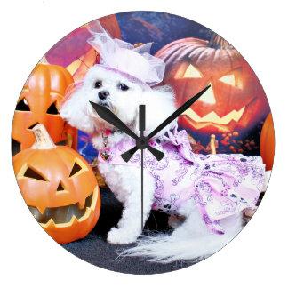Halloween - Bichon Frise - Mia Clocks
