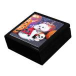 Halloween - Bichon Frise - Mia Keepsake Boxes