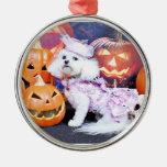 Halloween - Bichon Frise - Mia Christmas Tree Ornaments