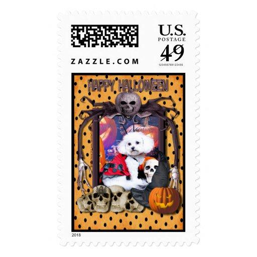 Halloween - Bichon Frise - Mia Postage Stamps