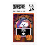 Halloween - Bichon Frise - Mia Stamp