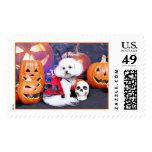 Halloween - Bichon Frise - Mia Stamps