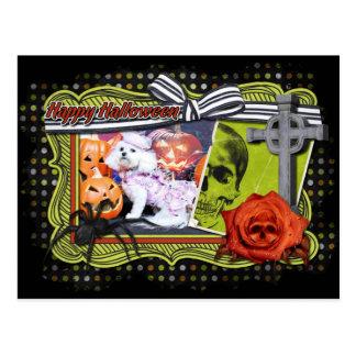 Halloween - Bichon Frise - Mia Tarjeta Postal