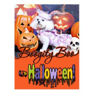 Halloween - Bichon Frise - Mia Postales