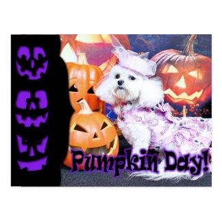 Halloween - Bichon Frise - Mia Tarjetas Postales