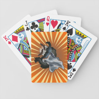 Halloween Bicycle Playing Cards