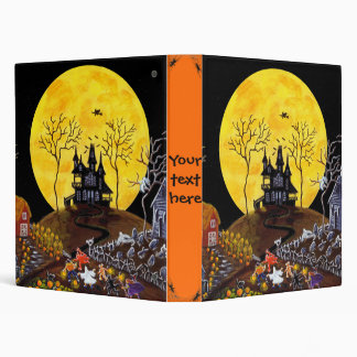 Halloween binder for recipes,photos etc