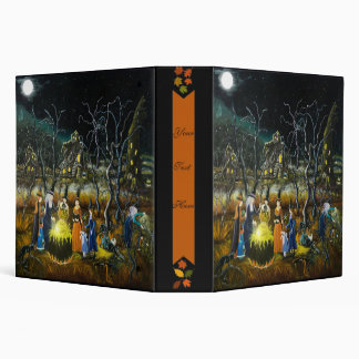 Halloween binder, witches around cauldron 3 ring binder