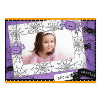 """Halloween Birthday 5"""" X 7"""" Invitation Card"""