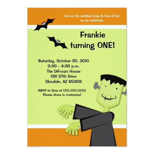 Halloween Birthday 5x7 Frankenstein Party Invite