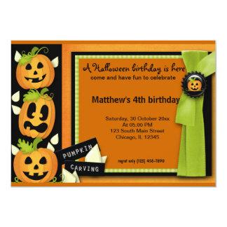 Halloween Birthday 5x7 Paper Invitation Card