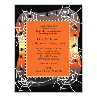 Halloween Birthday Bash Costume Party Card