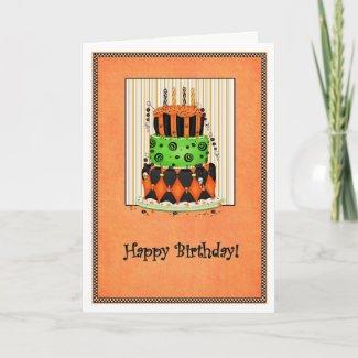 Halloween Birthday Card zazzle_card