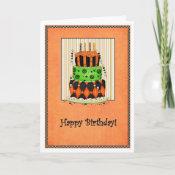 Halloween Birthday Card card