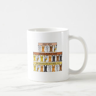 Halloween Birthday Cats Coffee Mug