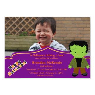 "Halloween birthday costume 5"" x 7"" invitation card"
